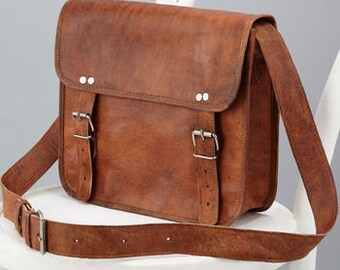 Leather Satchel By Vida Vida