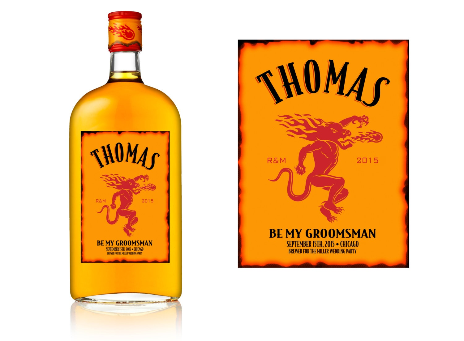 fireball whiskey label customized label by With custom fireball label