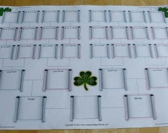 Celtic Blank Family Tree Chart -  5 Generation
