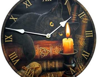 Black cat Bewitching Clock