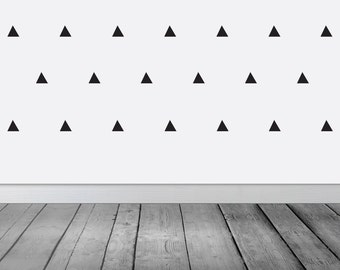 Triangle Wall Sticker , Triangle Wall Decals , Vinyl Stickers
