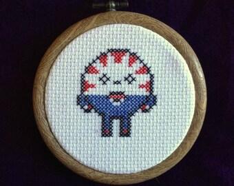 "3"" Adventure Time Peppermint Butler cross stitch"