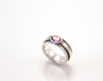 Royal Purple - silver ring with amethyst