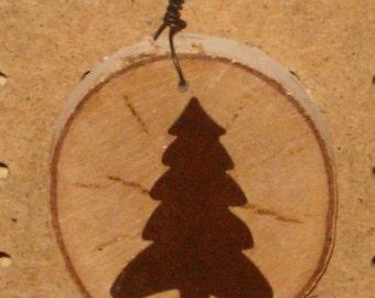 Birch Ornament w/rusty tin tree