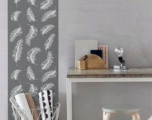 Self Adhesive Feather Pattern Removable Wallpaper - CM004