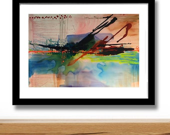 EXTINGUISH Abstract modern art print from original mixed media