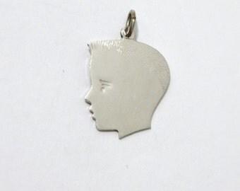 Sterling Silver Boy Silouette Pendant/Charm.