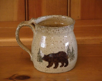 Woodland Mug (Features Bear and Moose)