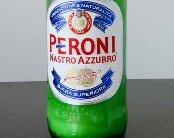 Upcycled Reborn Peroni Beer Bottle Candle