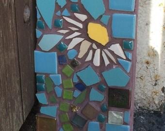 Daisy, Daisy Mosaic, Garden Mosaic, unique gift,  home or garden.