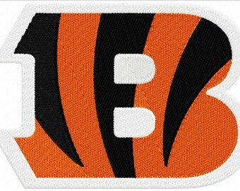 "Cincinnati Bengals - Ohio - Bengals Logo - Hoop sizes 4""x4"" 5""x7"", 6""x10"" - Finished product 3.75""x2.75"", 4.75""x3.75"", 7.75""x5.5"""