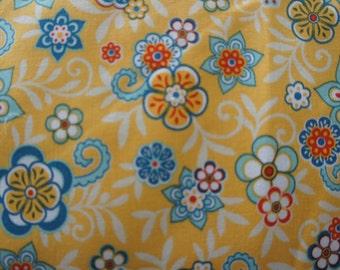Riley Blake Designs Samantha Walker Serenata  C3262 Yellow Floral BTY (By the Yard)
