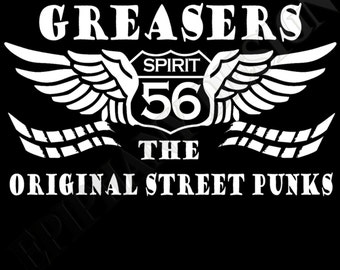 Greasers T-Shirt Rock And Roll 50's 60's  Original Street Punks Unique Design
