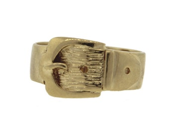 Vintage Estate Yellow Gold Buckle Ring