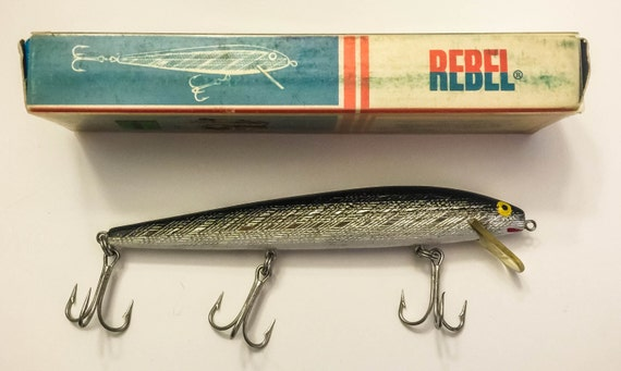 Vintage 1970s rebel the amazing minnow fishing lure for Rebel fishing lures