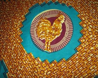1/2 Yard Cut - African Wax Print - Cotton Fabric