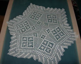 Crochet blanket in star shape