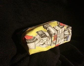 Transformers Makeup Bag Sewn From Vintage Sheets