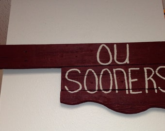 OU Sooners state sign