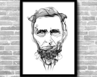 Abraham Lincoln Art Lincoln Poster Lincoln Wall Art Lincoln Painting Lincoln Print Home Decor Wall Decor Art Print Lincoln Décor