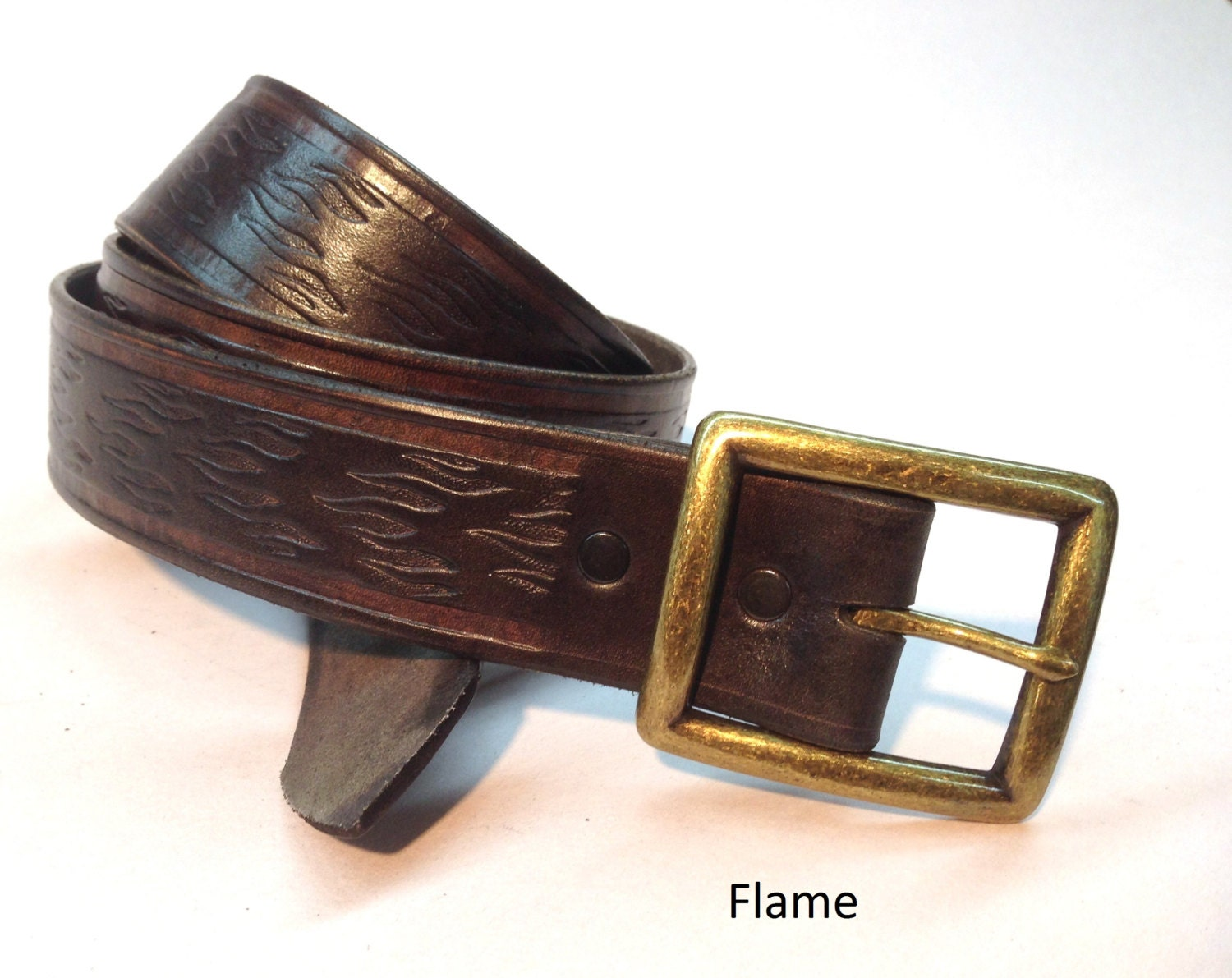 1 1 2 wide brown leather belt crafted genuine