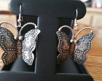 Silver Butterfly Earrings