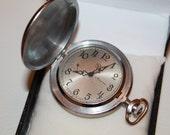 MOLNIJA Vintage Soviet USSR Russian Mechanical Pocket Watch 1980-1990s.