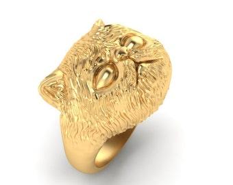 Persian Kitten 14k gold ring