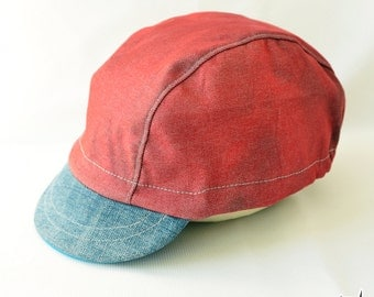 Red and Blue Cycle Cap
