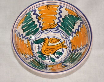 Two handpainted, numbered bowl by Saljo Crespo, Spain