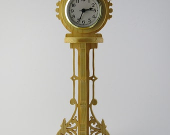 Hand Carved Wooden Clock