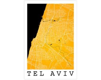 Tel Aviv Street Map, Tel Aviv Israel, Modern Art Print, Tel Aviv Map, Tel Aviv Decor, Tel Aviv Gift Idea, Tel Aviv Poster, Tel Aviv Art
