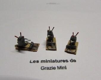 Miniature rats- scale 1:12- dollhouse miniatures