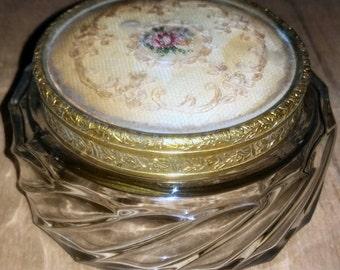 1950s Silk topped Powder Glass Bowl