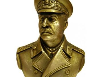 Russian Bronze Joseph Stalin Soviet bust