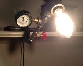 Steampunk Shelf Lamp