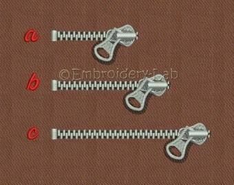 Zipper 0001 - machine embroidery designs / Set