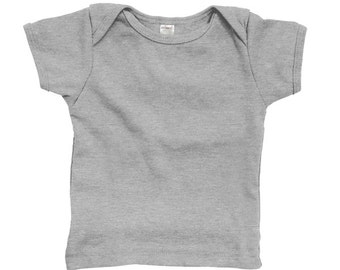 Heather Gray Baby Lap T-Shirt Blank LONG Sleeves CLEARANCE - For Embroidery, Applique, Decoration, Heat Transfer