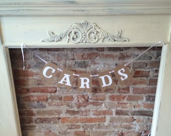 Cards Pennant Banner/ wedding/ celebrations/ rustic/ vintage/ shabby chic