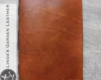 Handmade Leather Personalized Journal or Sketchbook
