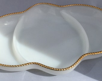 Fire-King Divided Platter Gold Plated