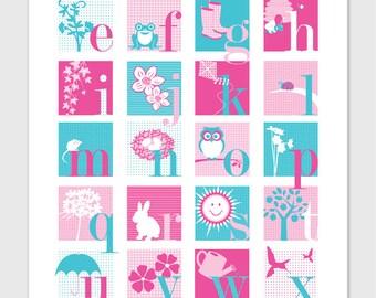 Garden Alphabet Print