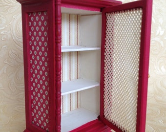 1/12th scale Miniature Dolls House Shabby Chic Cabinet Armoire Unit Cupboard