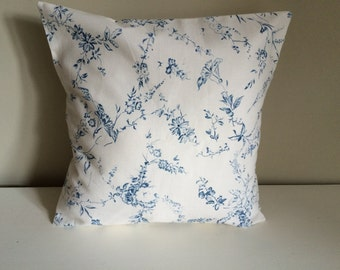 Blue & White Flower Cushion cover