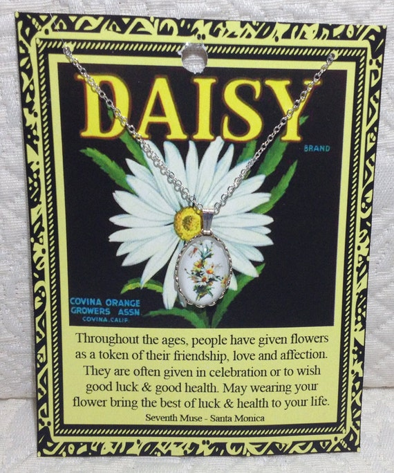 Daisy Charm Necklace on Story Card