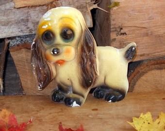 Cocker Spaniel Dog Chalkware Carnival Prize Fun Mid Century Home Decor