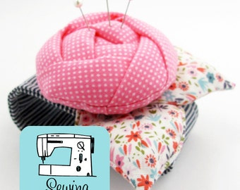 Rose Pincushion Cuff PDF Sewing Pattern | Flower Pincushion Sewing Pattern PDF