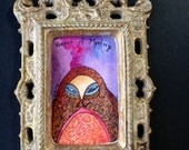 Keeper of Mystery  Framed Original Monster Painting by Megan Noel