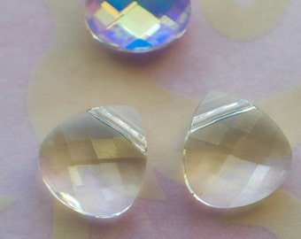 Large Lot of  Swarovski Crystal Pendant  Briolettes Beads in Crystal  for Jewelry Design