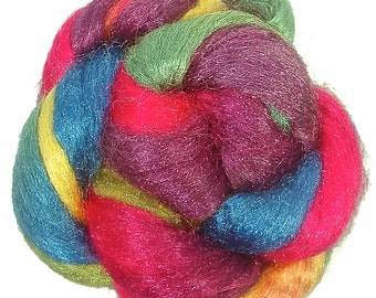 Handpainted Nylon Firestar Roving - 2 oz. ARCADE - Spinning Fiber